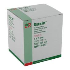 Gazin kompresy gazowe 5x5cm -100 szt - sterylne 8 warstwowe, 17 nitkowe
