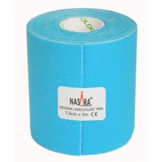 Taśma Nasara Kinesiology szeroka 5m x 7,5cm - niebieski