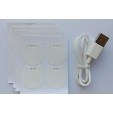 BUBBLE zestaw kabel USB + dodatkowe taśmy klejące (16 szt.)