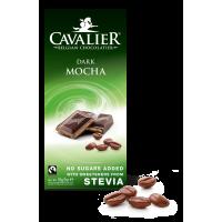 Czekolada z nadzieniem kawowym ze stewią Cavalier, deserowa bez cukru, 85g