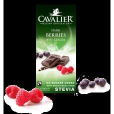Czekolada z owocami leśnymi ze stewią, deserowa, bez cukru, 85g
