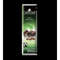 Baton z nadzieniem kawowym z czekolady deserowej słodzony ekstraktem ze stewii, bez cukru, 40g