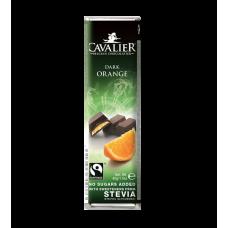 Baton Cavalier z nadzieniem pomarańczowym z czekolady deserowej słodzony ekstraktem ze stewii, bez cukru, 40g