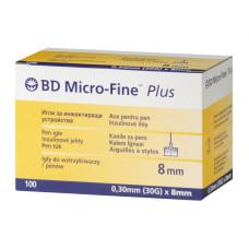 Igły do penów BD Micro-Fine Plus 30G 0,30 x 8 mm - 100 sztuk