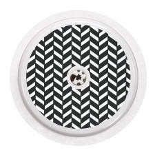 Naklejka na sensor FreeStyle Libre - czarno-biała jodełka