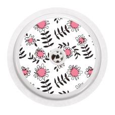 Naklejka na sensor FreeStyle Libre - różowe kwiatki