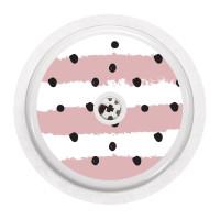 Naklejka na sensor FreeStyle Libre - kropki na różowych pasach