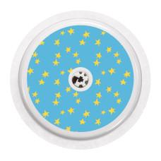 Naklejka na sensor FreeStyle Libre - błękitne gwiazdki