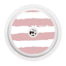 Naklejka na sensor FreeStyle Libre - różowe paski