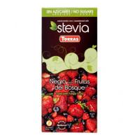 Czekolada Torras Stevia gorzka z owocami leśnymi 125g