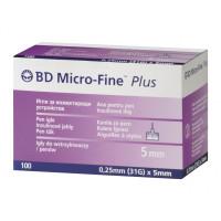Igły do penów BD Micro Fine Plus 31g (0,25mm x 5mm) - 100 szt.
