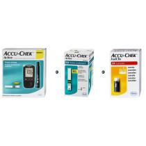 Zestaw Glukometr Accu-Chek Active + Paski Accu-Chek Active 50 sztuk + Lancety Accu Chek Fastclix 24szt