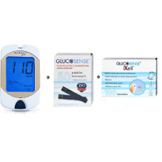 Zestaw Glukometr Glucosense pro + Paski testowe Glucosense 50szt + lancety Glucosense/iXell 100 sztuk