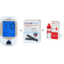 Zestaw Glukometr Glucosense pro + Paski testowe Glucosense 50szt + płyn kontrolny Glucosense/iXell