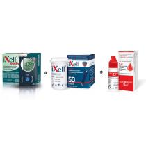 Zestaw Glukometr z głosowym odczytem iXell®Audio + Paski testowe iXell 50 sztuk + Płyn kontrolny iXell