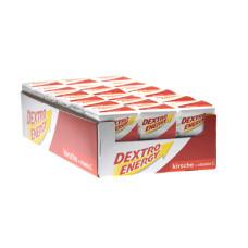 Glukoza Dextro Energy wiśnia z witaminą C 46g - 18 kostek po 8 pastylek