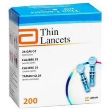 Lancety Thin (Optium Xido) 200 sztuk