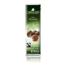 Baton z nadzieniem pralinowym z mlecznej czekolady słodzony ekstraktem ze stewii, bez cukru, 40g